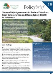 ASB Policy Brief on Stewardship Agreements for REDD in Indonesia
