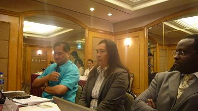 From left to right: Tony La Vina (Ateneo De Manila University,Philippines), Mary Ann Lucille Sering (Vice-Chair, Climate Change Commission of the Philippines), Peter A. Minang (ASB Global Coordinator)