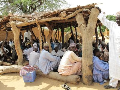 Participatory community meeting, Niger. Photo credit:Mahamane Larwanou
