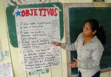 A facilitator leads a scenarios workshop in Latin America. Photo © Kristen Evans